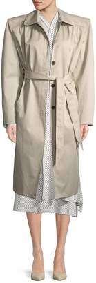 Balenciaga Women's Bold Shoulder Trench Coat