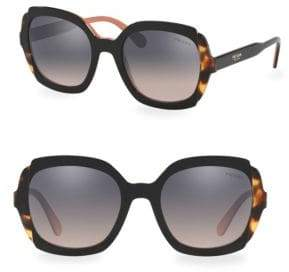 Prada 54MM Two Tone Tortoise Sunglasses