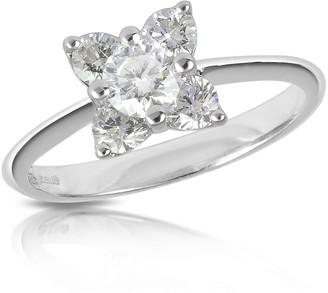 Forzieri Diamond Flower 18K White Gold Ring