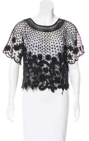 Chanel Floral Crochet Top
