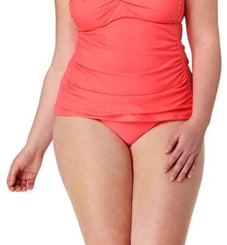 Catalina Collections By Plus-Size Solid High Waist Bikini Swimsuit Bottom