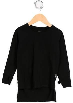 Nununu Boys' High-Low Long Sleeve Shirt