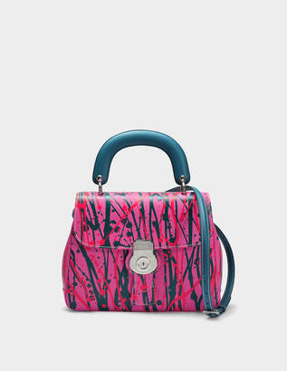 Burberry Medium DK88 Top Handle Bag in Pink Embossed Calfskin