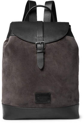 Andersons Anderson's Suede And Full-Grain Leather Backpack