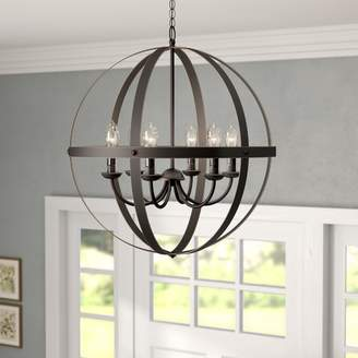 Gracie Oaks Genna 6-Light Globe Chandelier