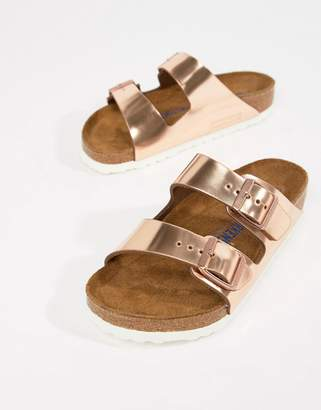 9fc6d115e Birkenstock Arizona Rose Gold Flat Sandals