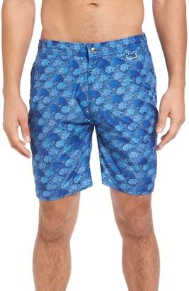 Men's Peter Millar The Great Waves Print Swim Trunks $168 thestylecure.com