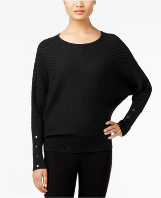 Alfani Dolman-Sleeve Ribbed Sweater, Only at Macy's $59.50 thestylecure.com