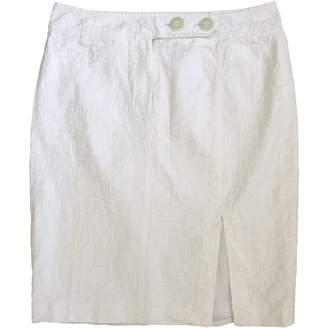 Aigner White Cotton Skirt for Women