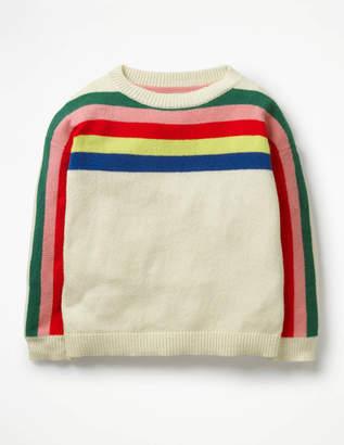 Boden Rainbow Stripe Jumper