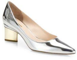 Nicholas Kirkwood Prism Heel Metallic Leather Pumps $650 thestylecure.com