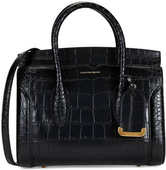 Alexander McQueen Heroine Crocodile Embossed Leather Shopper