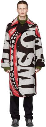 Stella McCartney Black and Red Lance Coat