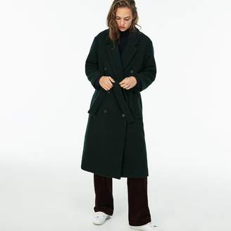 Lacoste Women's Double-Breasted Belted Wool Boucle Trench Coat