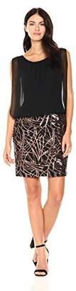 Calvin Klein Women's Sleeveless Dress with Embroidered Skirt
