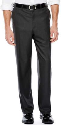 Izod Gray Sharkskin Flat-Front Suit Pants - Classic Fit