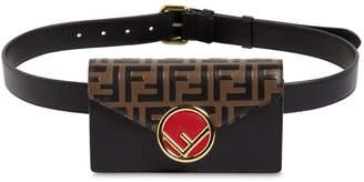 Fendi Logo Embossed Leather Belt Pack