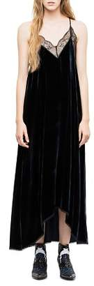 Zadig & Voltaire Risty Velour Maxi Dress