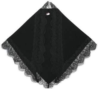 Twin-Set lace trim scarf