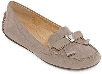 Liz Claiborne Womens Aires Loafers Slip-on Square Toe
