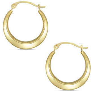 Tag Heuer FINE JEWELLERY 10K Yellow Gold Round Hoop Earrings