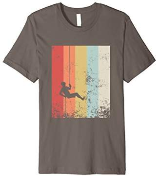 Distressed Vintage Rock Climbing T-Shirt Rappelling