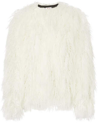 House of Fluff - Faux Fur Coat - White