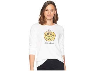 Life is Good Pumpkin Crusher Long Sleeve T-Shirt Women's T Shirt