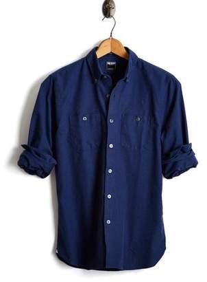 Todd Snyder Slim Fit Oxford Button Down Shirt in Navy