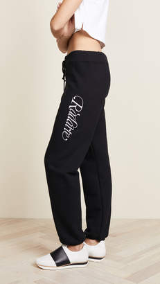 Rodarte Radarte Script Embroidery Sweatpants