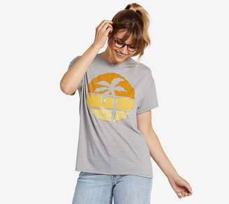 Life is Good Sunset Palm Slouchy T-Shirt