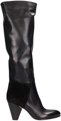 Strategia Black Suede And Leather Boots