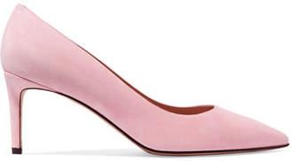 Stuart Weitzman Leigh Suede Pumps - Pastel pink