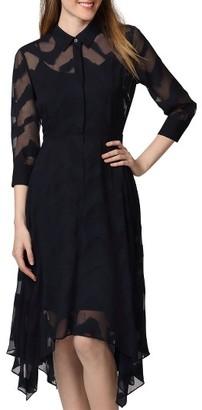 Women's Donna Morgan Jacquard Shirtdress $148 thestylecure.com