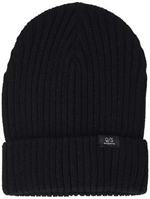 Q/S designed by Men's 40.811.92.2816 Beanie, (Black 9999), One (Size: 1)