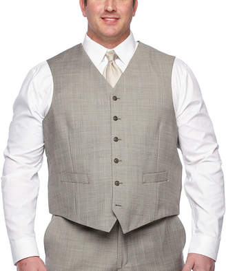 STAFFORD Stafford Checked Classic Fit Suit Vest - Big and Tall