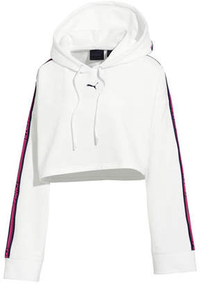 FENTY PUMA by Rihanna Hooded Cropped Sweatshirt w/ Racer Stripe