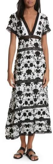Fusca Floral Print Maxi Dress