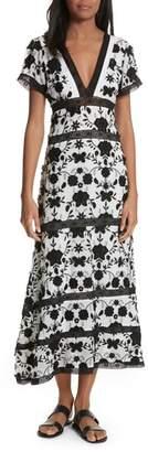 Joie Fusca Floral Print Maxi Dress