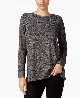 Style&Co. Style & Co Melange Raglan-Sleeve Knit Top