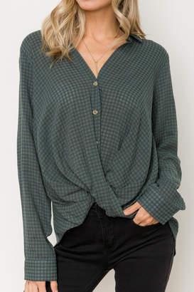 Hem & Thread Twist Hem Shirt