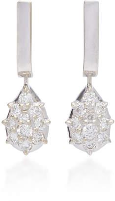 Carbon & Hyde Fantom 14K White Gold Diamond Earrings