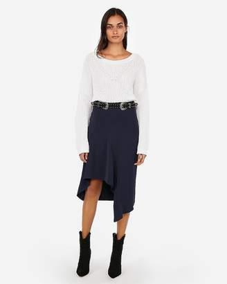 Express High Waisted Ruffle Pencil Skirt