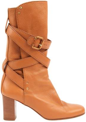 Chloé Camel Leather Boots
