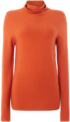 Oui High neck fine knit jumper