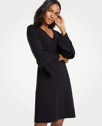 Ann Taylor Petite Ruffle Sleeve Sweater Dress