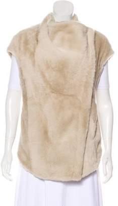 Helmut Lang Asymmetrical Fur Vest