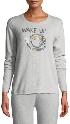 Lisa Todd Wake Up & Smell the Coffee Cashmere Sweater, Plus Size