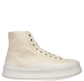 Jil Sander Contrast Sole Hi-top Sneakers