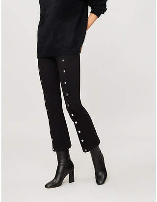 The Kooples Popper-front jersey trousers